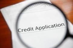 Regard de demande de crédit photo libre de droits