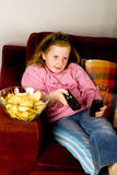 Regard de la télévision Photos stock