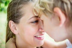 Regard de mère et d'enfant avec amour Photos libres de droits