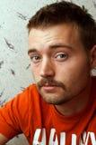 Regard de moustache d'homme Image libre de droits