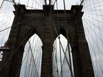 Regard de toile d'araignée de pont de Manhattan Image libre de droits