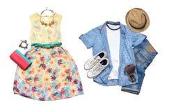 Regard de vêtements d'été Image libre de droits