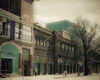 Regard de vintage chez Fenway Park, Boston, mA Images libres de droits