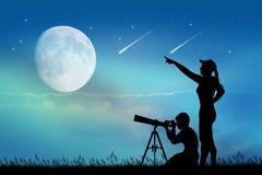Regard des étoiles filantes Photo libre de droits
