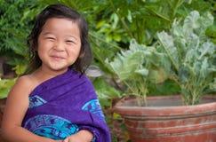 Regard heureux d'un enfant Images libres de droits