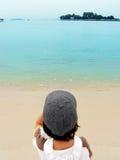 Regard à l'extérieur à la mer Image libre de droits