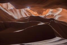 Regard naturel du canyon supérieur d'antilope, itinéraire 98 Photo libre de droits