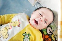 Regard nouveau-né de fille Photographie stock libre de droits