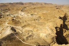 Regard occidental des fotress de Masada. Images libres de droits