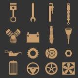 Regard rustique de pièces de moteur Illustration Stock