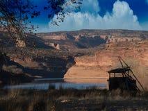 Regard vers Duck Blind et les falaises rouges photos libres de droits