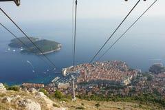 Regard vers le bas au-dessus de Dubrovnik Images libres de droits