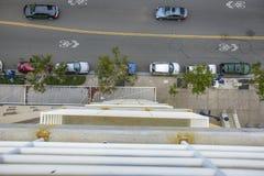 Regard vers le bas du garage Image libre de droits
