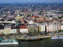 Regard vers le bas sur Budapest Photos libres de droits
