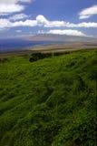 Regard vers le bas sur l'île de Maui Image libre de droits