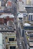 Vue d'oeil d'oiseau de la ville de Francfort Image libre de droits