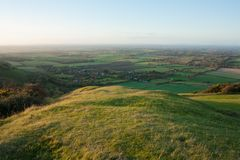 Regardant du nord des bas du sud, Fulking, East Sussex, R-U photo libre de droits