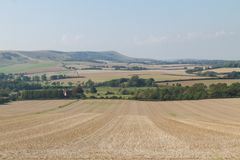 Regardant vers Firle, bas du sud, East Sussex, R-U images stock