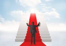 Regarder des escaliers au ciel Images libres de droits