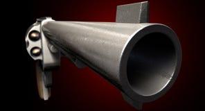 Regarder en bas fixement du baril d'une arme à feu Image stock