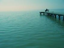 Regarder fixement la mer Images libres de droits