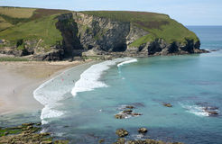 Regarder la plage de Portreath. Photo stock