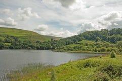 Regarder le barrage principal dans la vallée d'élan du Pays de Galles Photos libres de droits