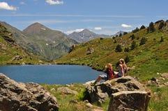 Regarder le lac Photographie stock