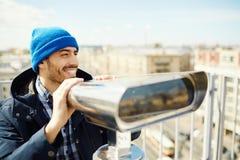Regarder le paysage urbain photographie stock libre de droits