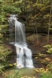 Regarder les deux étapes de la cascade de Hasenreuter Photo libre de droits