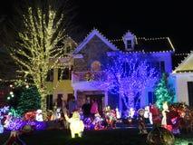 Regarder les lumières de Noël dans le Maryland image libre de droits