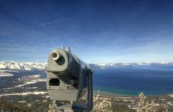 Regarder vers le bas Lake Tahoe Photos stock