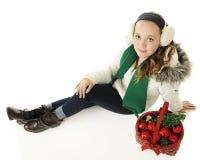 Regarder vers le haut Christmastime Image libre de droits