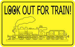 Regardez à l'extérieur pour le train Illustration Stock