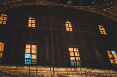 regardez à l'intérieur de la vieille mosquée au Caire, Egypte Photographie stock