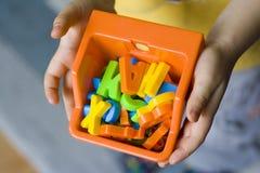 Regardez à mes jouets Photographie stock