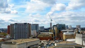 Regardez au-dessus de Birmingham l'Angleterre photo libre de droits