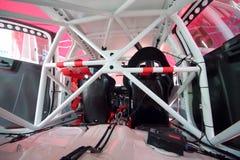 Regardez de l'intérieur de l'évolution de Mitsubishi avant début Image stock