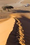 Regardez de la dune 45 dans le désert de Namib, Sossusvlei, Namibie Images libres de droits