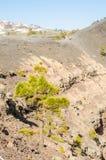 Regardez la ville de Fuencaliente du volcan de San Antonio, L photo stock