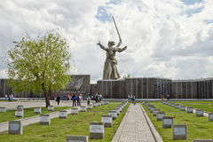 Regardez le cimetière commémoratif des défenseurs de Stalingrad et du St Image libre de droits