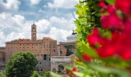 Regardez le forum à Rome Image stock