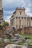 Regardez le forum à Rome Photos stock