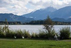 Regardez le lac Photo libre de droits