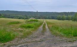 Regardez le paysage de ressort, Bohême du sud, République Tchèque Photo stock