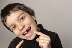 regardez mes dents Photographie stock