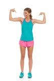 Regardez mes muscles Photos libres de droits