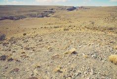 Regardez sur les collines des Andes Photographie stock