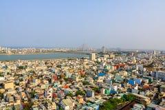 Regardez toute la ville de Da Nang Image libre de droits