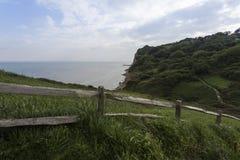 Regardez vers la mer du parc est de pays de colline photo libre de droits